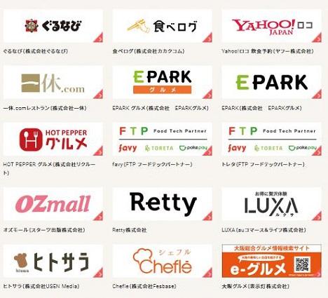【Go To Eat】ポイント付与対象のオンライン飲食予約サイト