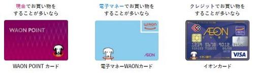イオンカードWAONPOINTが貯まるカード