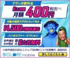 「BIGLOBEモバイル」