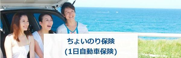 東京海上日動「ちょいのり保険(1日自動車保険)」