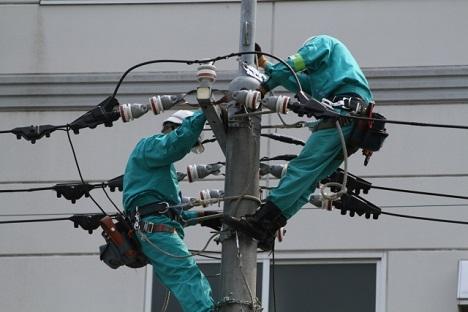 電線復旧工事